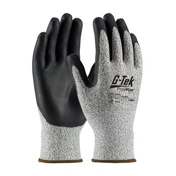 PIP 16-334 G-Tek PolyKor Seamless Knit PolyKor Blended Glove with Nitrile Coated, ANSI Cut Level 2 - Box/12 Pairs