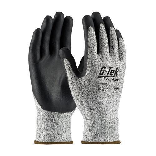 PIP 16-334 G-Tek PolyKor Seamless Knit PolyKor Blended Glove with Nitrile Coated - Box/12 Pairs