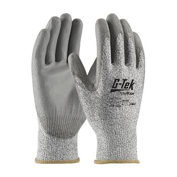 PIP 16-530 G-Tek PolyKor Seamless Knit PolyKor Blended Glove with Polyurethane Coated, ANSI Cut Level 3 - Box/12 Pairs