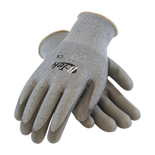 PIP 16-560 G-Tek PolyKor Seamless Knit PolyKor Blended Glove with Polyurethane Coated, ANSI Cut Level 4 - Box/12 Pairs
