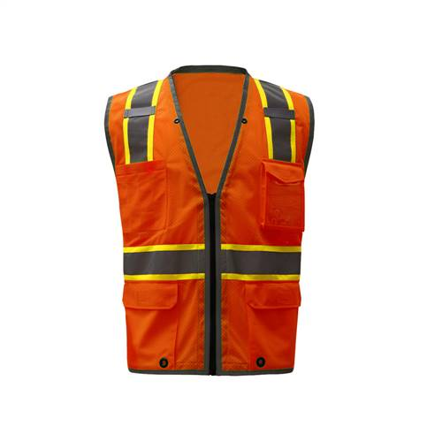 GSS Safety 1702 Premium Class 2 Brilliant Vest - Orange