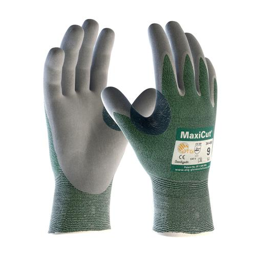 PIP 18-570 MaxiCut Seamless Knit Engineered Yarn Glove with Nitrile Coated MicroFoam Grip on Palm & Fingers - Box/12 Pairs
