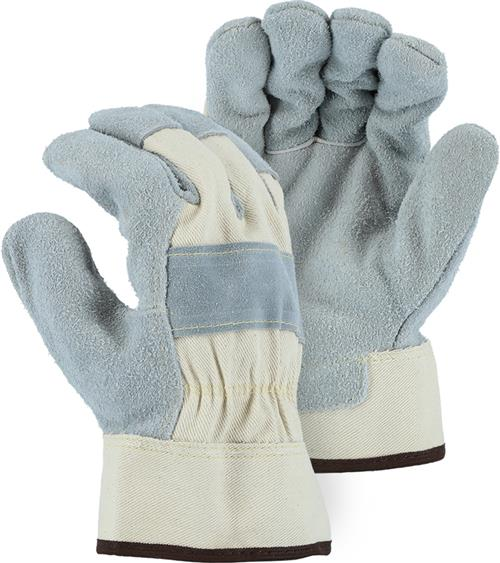 "Majestic 1800 The ""Pit Bull"" Cowhide Leather Palm Gloves, Heavy Weight Side Split, Double Chrome Tanned Leather, Kevlar Sewn, Box/12 Pairs- The Man Store"