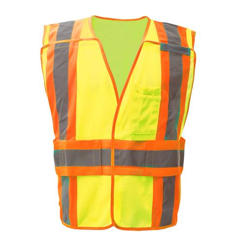 GSS Safety 1803 Standard Class 2 Expandable Breakaway Vest -Lime