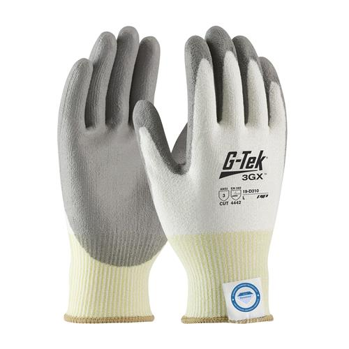 PIP 19-D310 G-Tek 3GX Gloves Seamless Knit Dyneema® Diamond Blended with Polyurethane Coated Smooth Grip on Palm & Fingers - Box/12 Pairs