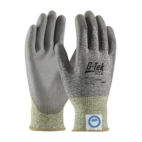 PIP 19-D320 G-Tek 3GX Seamless Knit Dyneema® Diamond Blended Glove with Polyurethane Coated Smooth Grip on Palm & Fingers 12 pair/box