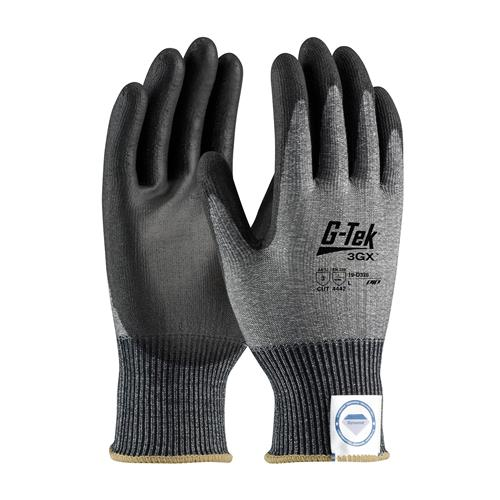PIP 19-D326 G-Tek 3GX ANSI Cut Level 3 Seamless Knit Dyneema® Diamond Blended Glove with Polyurethane Coated Smooth Grip on Palm & Fingers Box/12 Pairs