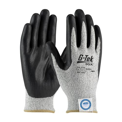 PIP 19-D334 G-Tek 3GX Seamless Knit Dyneema Diamond / Nylon Glove with Nitrile Coated Foam Grip on Palm & Fingers - Box/12 Pairs