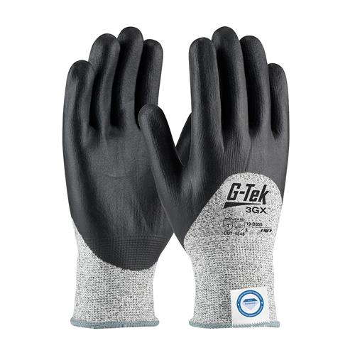 PIP 19-D355 G-Tek 3GX ANSI Cut Level 3 Seamless Knit Dyneema® Diamond Blended Glove with Nitrile Coated Foam Grip on Palm, Fingers & Knuckles Box/12 Pairs