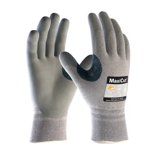 PIP 19-D470 MaxiCut Seamless Knit Dyneema Engineered Yarn Glove with Nitrile Coated MicroFoam Grip, Box/12 Pairs