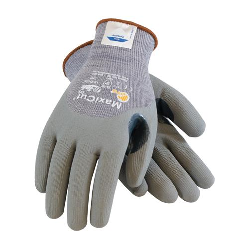PIP 19-D475 MaxiCut Dry Seamless Knit Dyneema / Engineered Yarns Glove with Nitrile Coated Foam Grip on Palm, Fingers & Knuckles - Box/12 Pairs