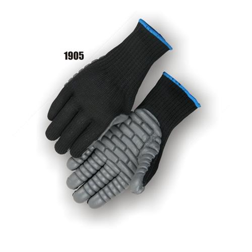 Majestic 1905 Anti-Vibration Gloves, ANSI & ISO 10819 Compliant, Neoprene Palm, Knit Shell, Full Fingered