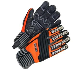 BDG 20-9-10690 Site Gloves, Specialty Performance, C-100 Thinsulate Winter Lined, Synthetic Leather Palm with Gel Inserts, TPU Impact Defense, Vibration Resistant, Hi Vis Orange, Box/12