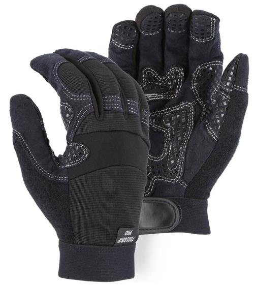 Majestic 2121 Armor Skin Mechanics Glove, Synthetic Leather Palm, Reinforced Silicone Palm Padding, Box/ 12 Pairs