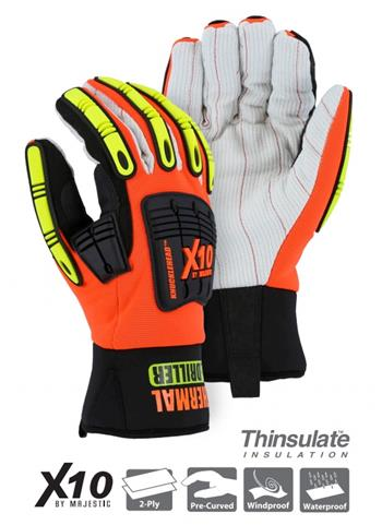 Majestic 21267HO Hi Vis Knucklehead Driller X10 Gloves
