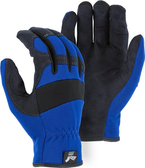 Majestic 2136BL Armor Skin Glove, Unlined, Blue