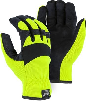 Majestic 2136HY Armor Skin Glove, Unlined, Hi Vis Yellow