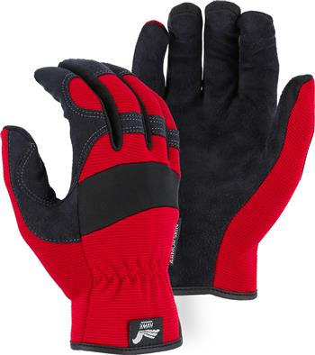 Majestic 2136R Armor Skin Glove, Unlined, Red