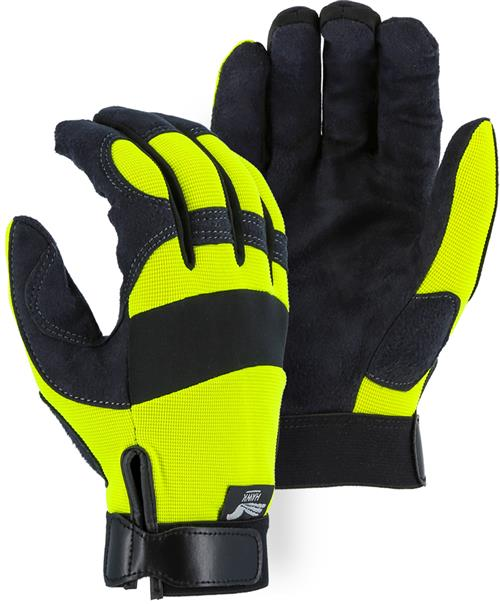 Majestic 2137HY Armor Skin Glove, Unlined, Hi Vis Yellow