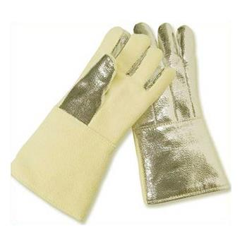 "CPA Chicago Protective Apparel 234-AKV-KV Combo 14"" Glove, Aluminized Kevlar Blend Back & Kevlar Blend Palm"