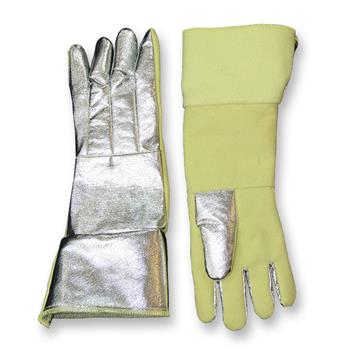 "CPA Chicago Protective Apparel 238-AKV-KV Combo 18"" Glove, Aluminized Kevlar Blend Back & Kevlar Blend Palm"