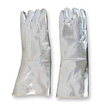 "CPA Chicago Protective Apparel 243-AKV 23"" High Heat Glove, 19 oz. Fully Aluminized Kevlar Blend, Pair"