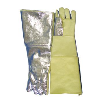 "CPA Chicago Protective Apparel 243-AKV-KV Combo 23"" Glove, Aluminized Kevlar Blend Back & Kevlar Blend Palm"