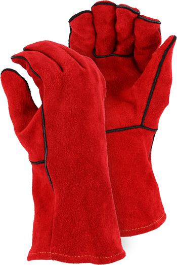Majestic 2514A, Select Shoulder Split Cowhide Welders Glove w/ Traditional Wing Thumb, Box/12 Pai