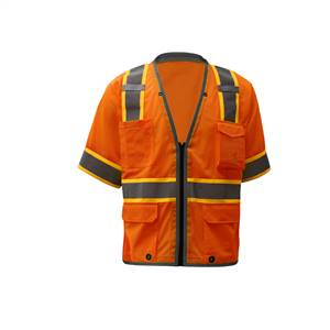 GSS Safety 2701 Premium Class 2 Brilliant Vest - Lime