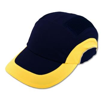 JSP Hardcap A1+ Bump Cap, Navy/Yellow, Low-Profile Baseball Style, #282-ABR170-52
