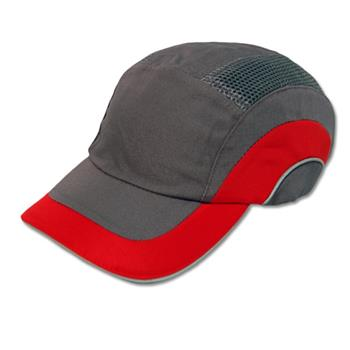 JSP Hardcap A1+ Bump Cap, Red/Gray, Low-Profile Baseball Style, #282-ABR170-62