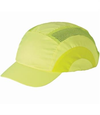JSP Hardcap A1+ Bump Cap, Hi-Vis Lime Yellow, Low-Profile Baseball Style, #282-ABR170-LY