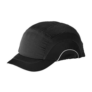 "JSP HardCap A1+ Bump Cap, Sleek Designs & Look, Low-Profile Baseball Style, Short 2"" Brim, Black/Gray, #282-ABS150-12"