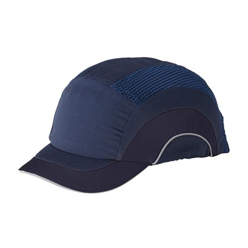 "JSP HardCap A1+ Bump Cap, Sleek Designs & Look, Low-Profile Baseball Style, Short 2"" Brim, Navy/Navy, #282-ABS150-21"