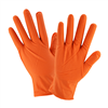 West Chester 2940 PosiShield 7 Mil Powder Free Orange Nitrile Disposable Gloves Textured Grip 10 box/case