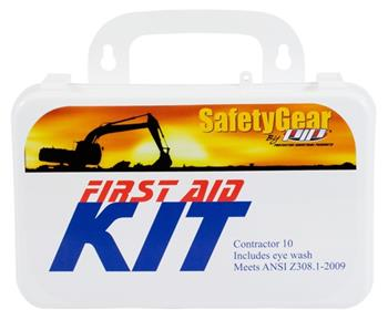 PIP 299-13285 Contractor First Aid Kit, 10-Person, Meets ANSI Z308.1-2009