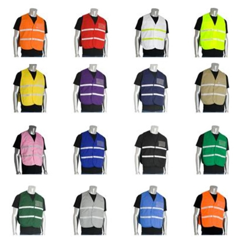PIP Incident Command Non-ANSI Solid Poly / Cotton Vest 15 Colors