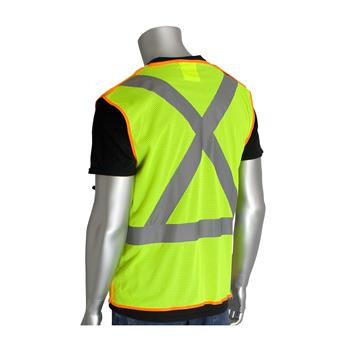 PIP 302-0210 Breakaway X Back Z96 Mesh Safety Vest Class 2 Type R Hi Vis Lime or Orange