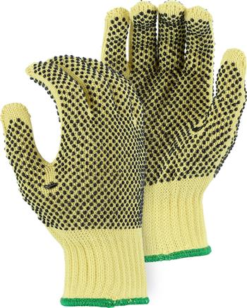 Majestic 3110 PVC Dotted 100% Kevlar Knit Glove,10 Gauge - Box/12 Pairs