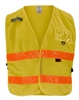 GSS Safety 3117 Incident Command Vest- Yellow w/Orange Prismatic Tape-One size Fits All