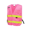 GSS Safety 3119 Incident Command Vest- Pink w/ Lime Prismatic Tape-One size Fits All