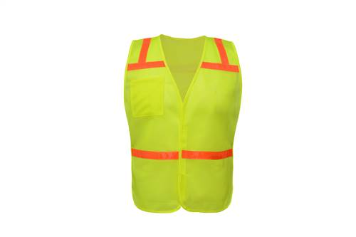 GSS Safety 3121 Non Ansi Enhanced Safety Vest-Lime