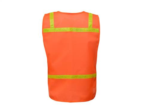 GSS Safety 3122 Non Ansi Enhanced Safety Vest-Orange
