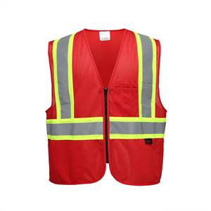 GSS Safety 3134 Enchanced Visibility Multi-Color Vest - Red