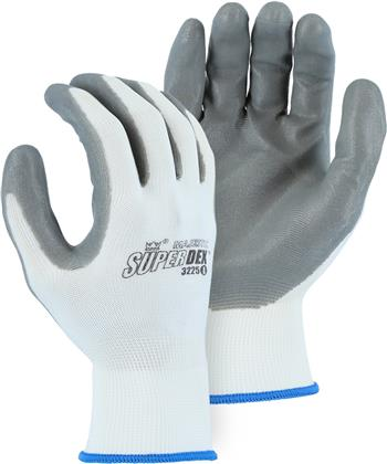 Majestic 3225 HCT Advanced Foamed Nitrile Palm Coated Glove 13-Gauge Seamless Knit Nylon Lined