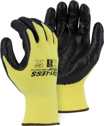 Majestic 3227 Kevlar Glove, 13-Gauge Seamless Kevlar Liner with HCT Advanced Foam Nitrile Palm