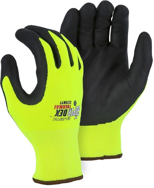 ajestic 3228HYT SuperDex Winter Lined Gloves, Micro Foam Nitrile Palm Coated