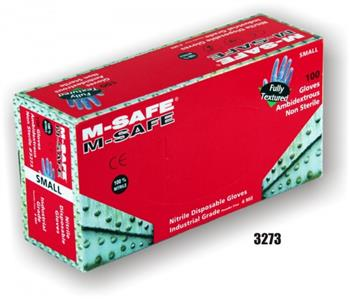 Majestic Glove 3273 Industrial Grade Disposable Nitrile Glove Powder Free 4 Mil Glove, Sold 20 Boxes / Case
