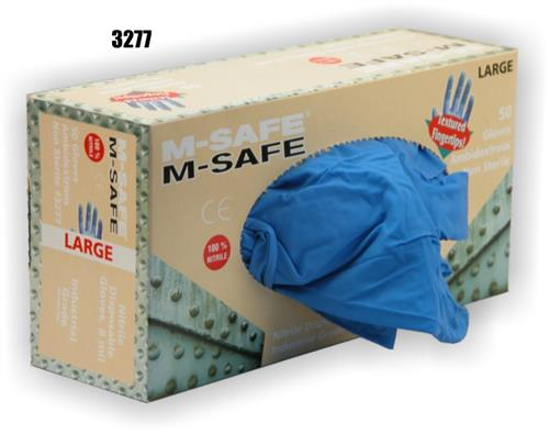 Majestic Glove 3277 M-Safe Exam / Industrial Grade Disposable Nitrile Glove Powder Free 8 Mil Glove, Sold 20 Boxes / Case