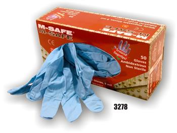 Majestic Glove 3278 M-Safe Exam / Industrial Grade Disposable Nitrile Glove Powdered 8 Mil Glove, Sold 20 Boxes / Case